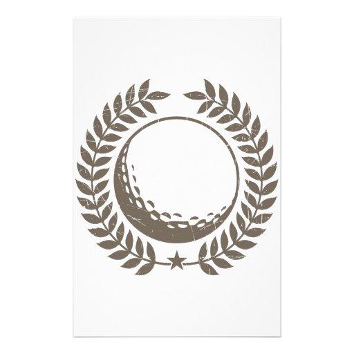 Golf Ball Vintage Design Stationery Design