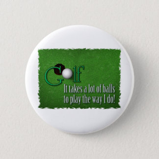 golf balls 6 cm round badge