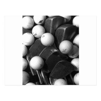 Golf Balls And Clubs - Golf Postcard