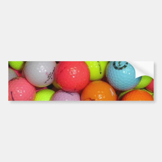Golf Balls And More Golf Balls Bumper Sticker