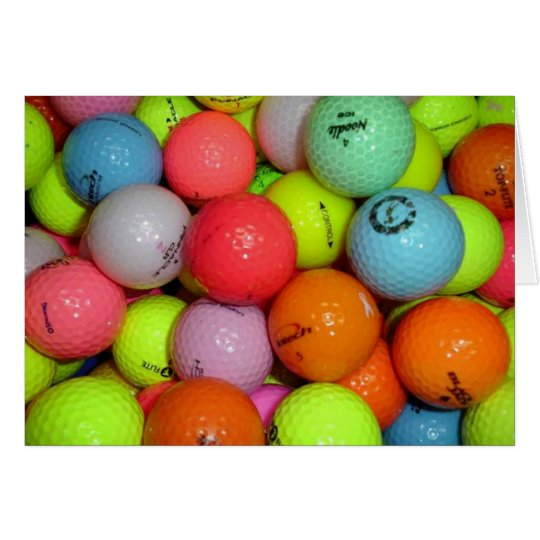 Golf Balls And More Golf Balls Card