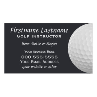 Golf Balls custom business cards