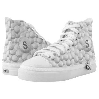 Golf Balls custom monogram high top shoes