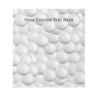 Golf Balls custom notepad