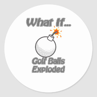 Golf Balls Exploded Sticker