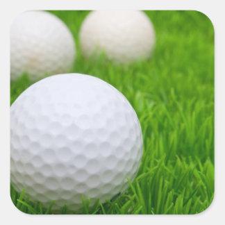 Golf Balls In Grass Square Stickers