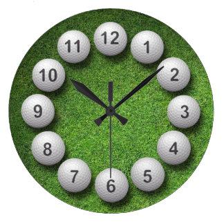 Golf Balls Large Clock