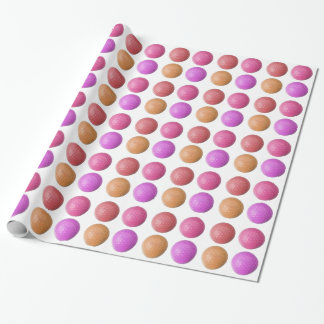 GOLF BALLS PATTERN FOR WOMEN, PINK GOLF BALL PAPER WRAPPING PAPER