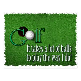 golf balls postcards