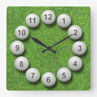 Golf Balls Timepiece Wallclocks