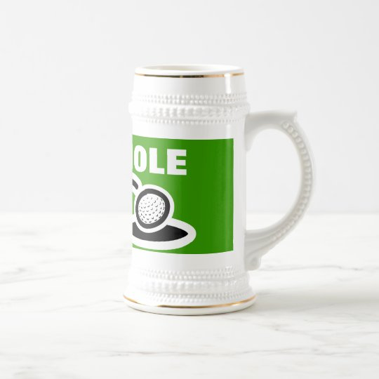 Golf beer mug with funny quote