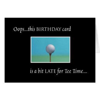 Golf - Belated Birthday Greeting Card
