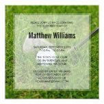 "Golf Birthday 5.25"" Square Invitation Card"
