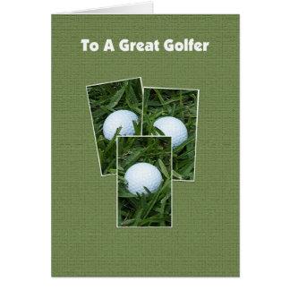 "Golf Birthday Card -- Golf Balls for Your ""Birdie"""