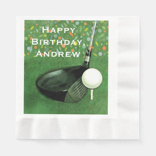 Golf Birthday Disposable Serviette