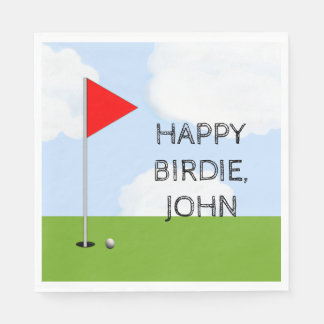 Golf Birthday Party Paper Napkin