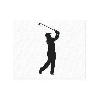 Golf Black Silhouette Shadow Canvas Prints