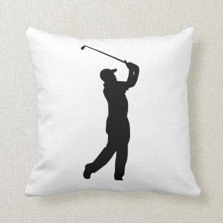 Golf Black Silhouette Shadow Cushion