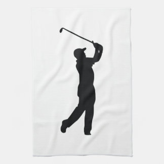 Golf Black Silhouette Shadow Tea Towel