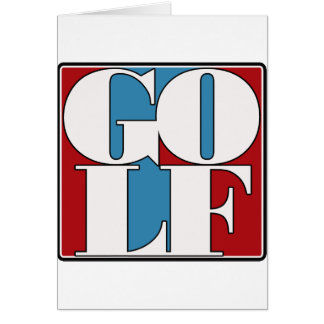 GOLF - BLOCK GREETING CARD