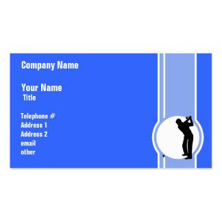Golf; Blue Business Card