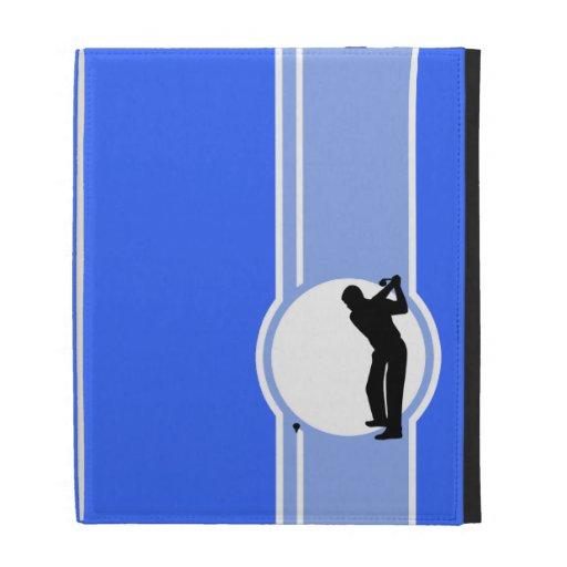 Golf; Blue iPad Case
