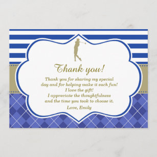 golf thank you cards zazzle uk