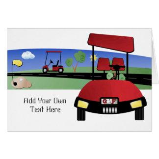 Golf Buggy Card