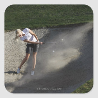 Golf bunker action square sticker