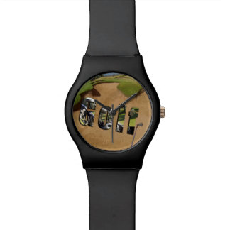 Golf Bunker And Logo, Ladies Black May Watch. Watches