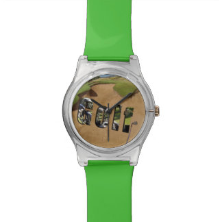 Golf Bunker And Logo, Ladies Green May Watch. Watches