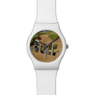 Golf Bunker And Logo, Ladies White May Watch. Watches