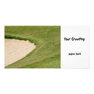 Golf Bunker Photo Card Template