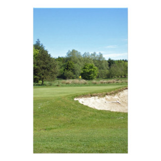 Golf Bunker Stationery Paper