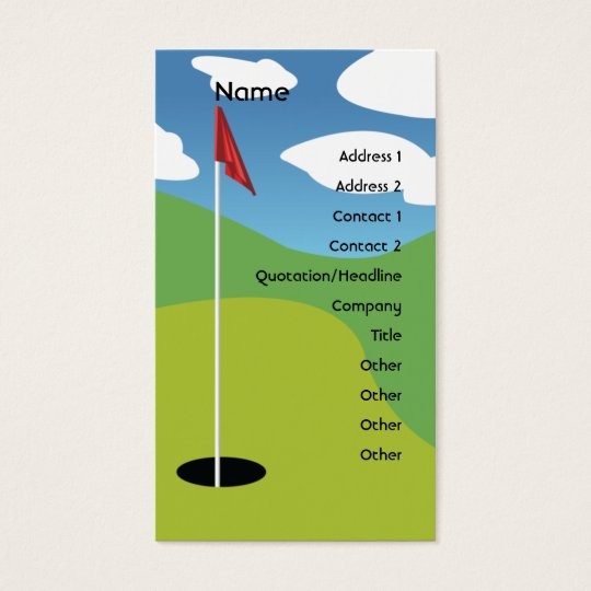 Golf - Business Business Card