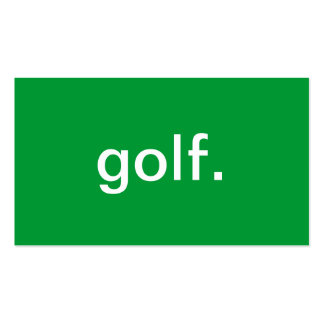 Golf Pack Of Standard Business Cards