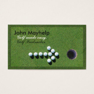GOLF BUSINESS CARD, GOLF INSTRUCTOR BUSINESS CARD
