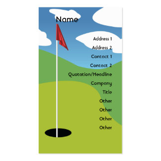 Golf - Business Pack Of Standard Business Cards