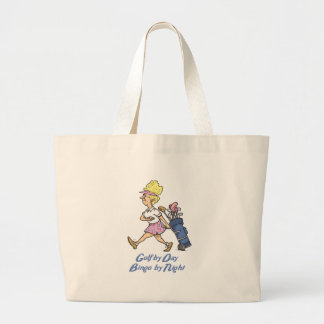 golf by day bingo by night tote bags