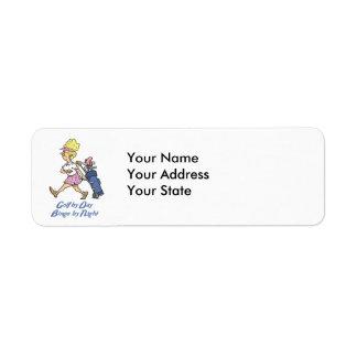 golf by day bingo by night return address label