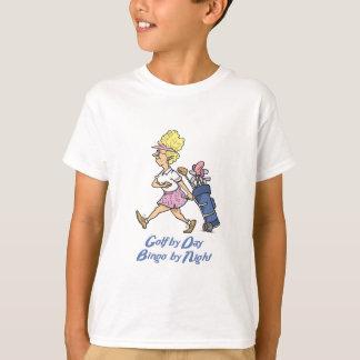 golf by day bingo by night tshirt
