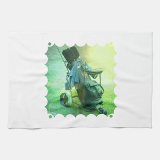 Golf Caddie Kitchen Towel