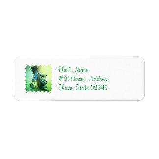 Golf Caddie Return Address Label
