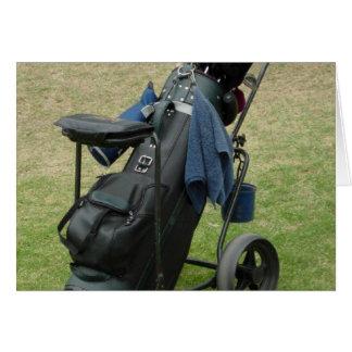 Golf Caddy Greeting Card