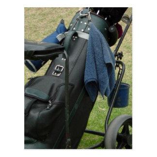 Golf Caddy Postcard