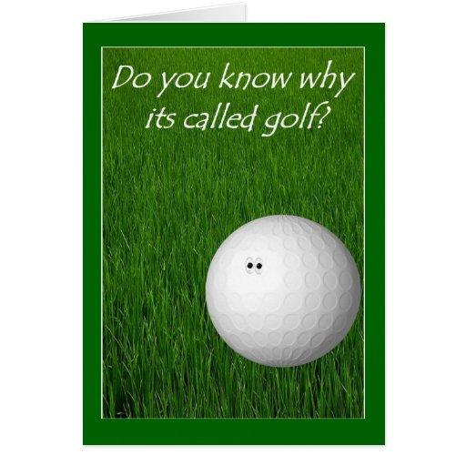 Golf Greeting Card