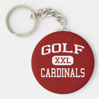Golf - Cardinals - Middle - Morton Grove Illinois Basic Round Button Key Ring