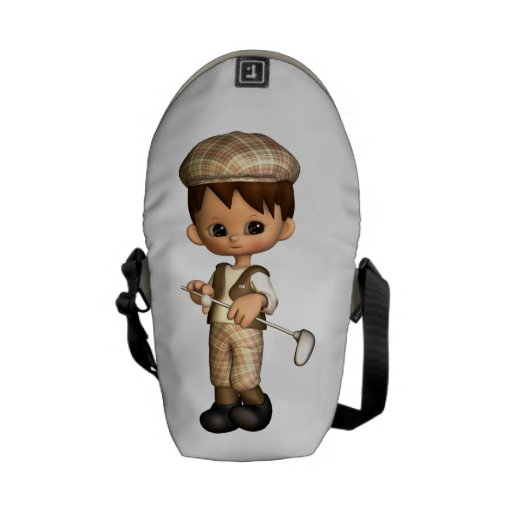 Golf Caricature Courier Bag