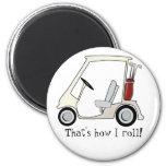 golf_cart 6 cm round magnet