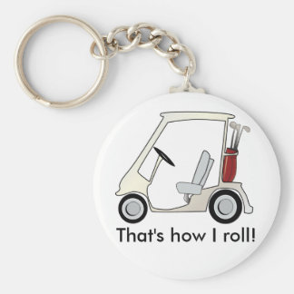 golf_cart basic round button key ring